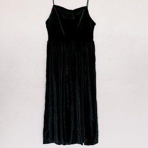 CJLA Square Neck Velvet Midi Dress